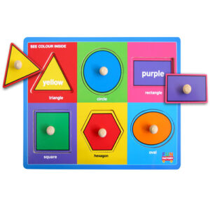 Shapes and Colours Wooden Knob Puzzle