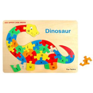 Wooden Alphabet Dinosaur Puzzle