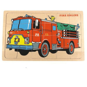 large fire engine wooden puzzle