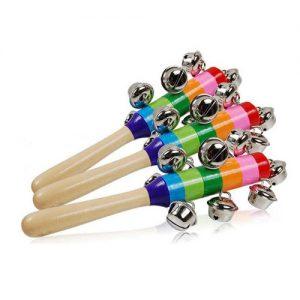 Wooden Rainbow Jingle Bell Rattle