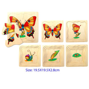 Butterfly - Layered Wooden Puzzles For Kids