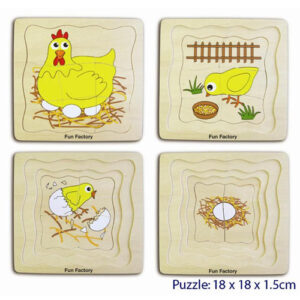 Chicken - Layered Wooden Puzzles For Kids