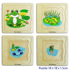 Frog - Layered Wooden Puzzles For Kids