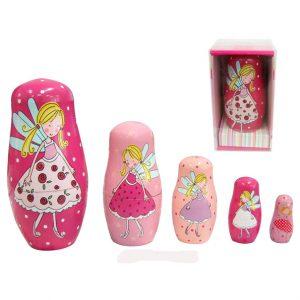 Wooden Fairy Nesting Dolls