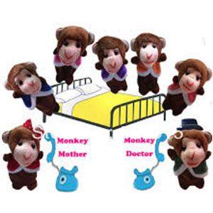 Five little monkeys finger puppets