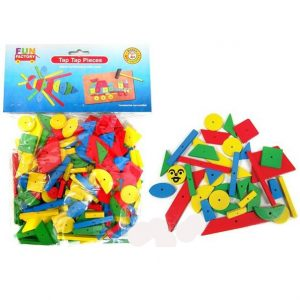 Hammer and Tap Wooden Geometric Shapes