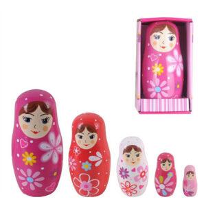 Wooden Babushka Nesting Dolls