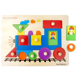 Wooden Train Knob Jigsaw Puzzle