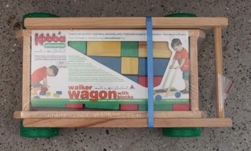 wooden walker wagon - unassembled
