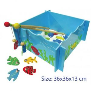 Large Wooden Magnetic Fishing Game