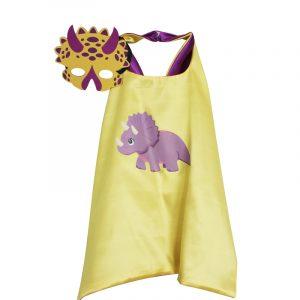 Yellow Triceratops Dress Up set