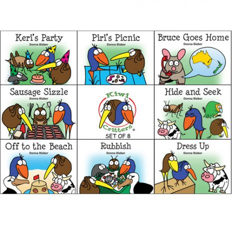 Kiwi Critters Books - Set of 8