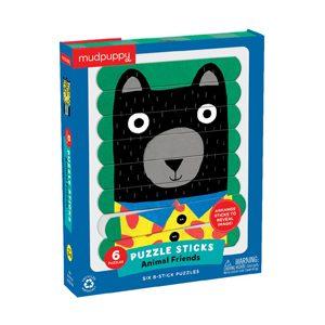Wooden animal friends puzzle sticks
