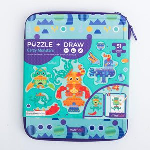 Crazy Monsters Puzzle & Draw Magnetic Kit