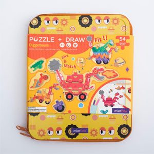Diggersaurs Puzzle & Draw Magnetic Kit