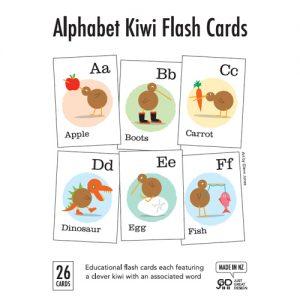 Kiwi Alphabet Flash Cards