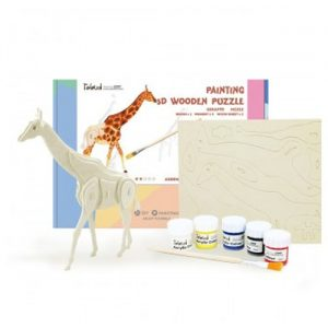 Wooden Giraffe 3D Painting Puzzle
