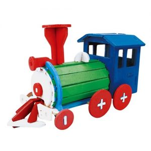 Wooden Train Painting 3D Puzzle