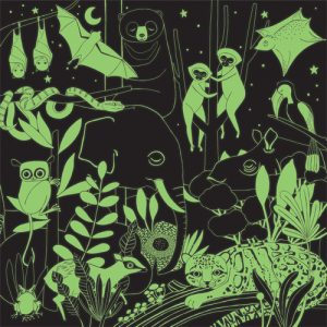 Jungle Illuminated Glow in the dark puzzle 500pc