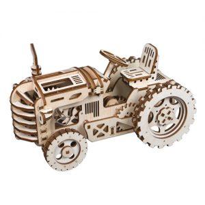 Wooden 3D Mechanical Tractor