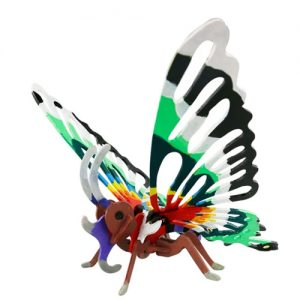 Wooden Butterfly 3D Painting Puzzle