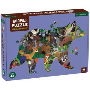 woodland forest shaped puzzle 300pc