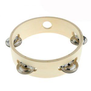Natural Wooden Tambourine 15cm