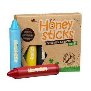 Honeysticks Long Beeswax Crayons 6pk