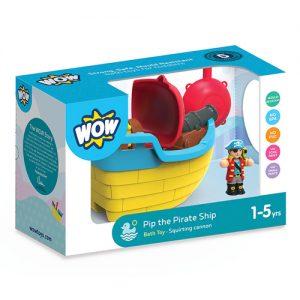 Pip the pirate ship bath toy