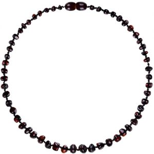 Dark Cherry Amber Teething Necklace