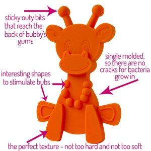 Little Bam Bam teether orange