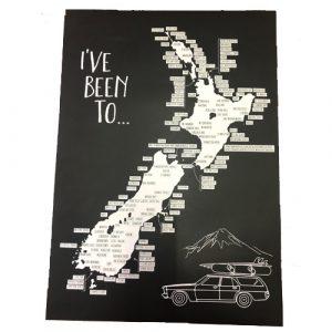 Moana Rd New Zealand Road Trip Scratch Map