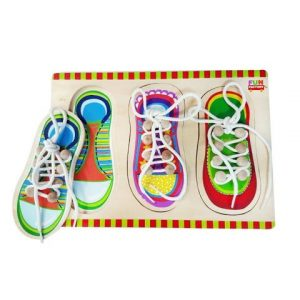 Wooden Shoe Lacing Jigsaw Puzzle