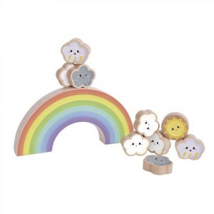 Wooden Rainbow Balancing Game