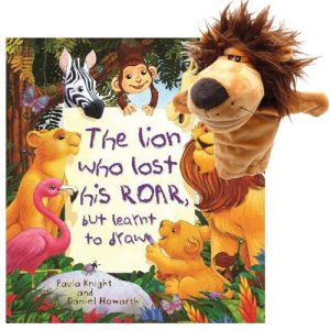 The lion who lost his roar book and Deluxe puppet combo