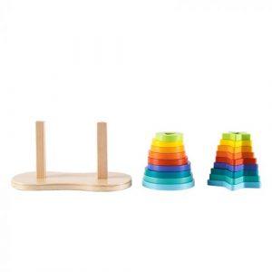 Wooden Double Rainbow Stacker
