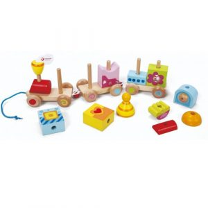 Wooden Stacking Pull Train