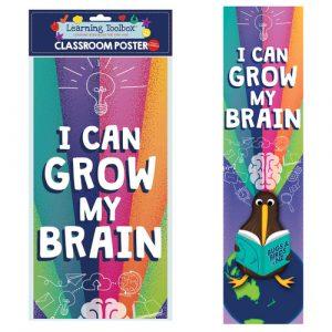 grow my brain classroom poster