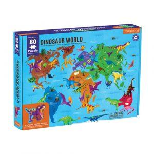 Dinosaur World Geography Puzzle 80pc