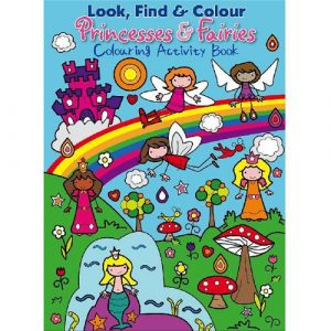 look find colour princesses and fairies activity book