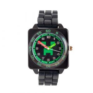 Green Minecraft Time Teacher Watch