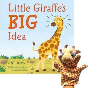 Little Giraffes Big Idea Book and Puppet Combo