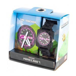 Purple Minecraft Time Teacher Watch