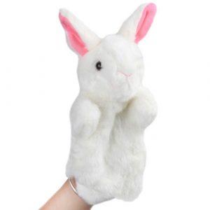White Rabbit Hand Puppets - large