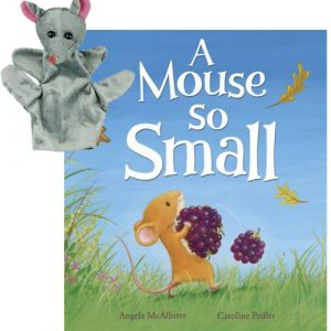 a mouse so small book and puppet combo