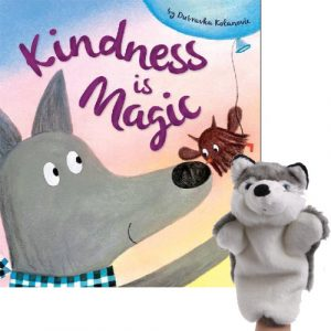kindness is magic book and puppet combo