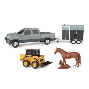John Deere Pickup And Horse Float