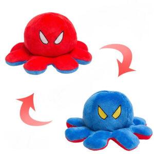 Reversible Plush Emotion Octopus blue-red