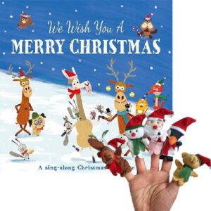 We Wish You A Merry Chrstmas Book & Puppet Combo