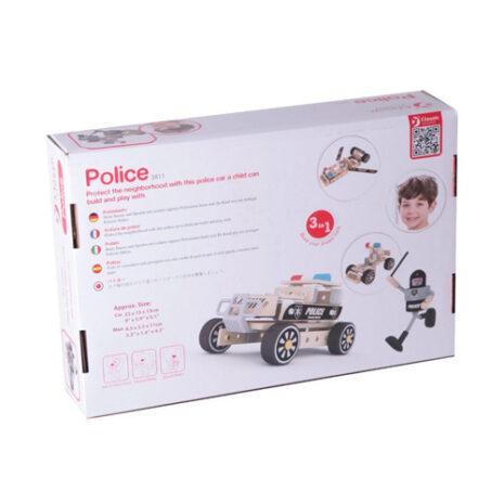 Wooden 3-In-1 Police Patrol Car